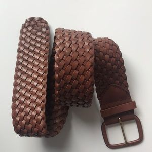 Jcrew Thick Leather Braided Belt